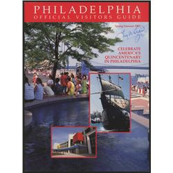 """Tug McGraw Signed 1992 Spring/Summer Philadelphia Official Visitors Guide Inscribed """"92'"""" (Autograph"""
