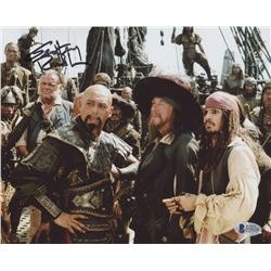 "Geoffrey Rush Signed ""Pirates of the Caribbean: On Stranger Tides"" 8x10 Photo (Beckett COA)"