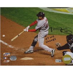 "Jacoby Ellsbury Signed Red Sox 8x10 Photo Inscibed ""07 WS Champs"" (MLB Hologram  Mounted Memories Ho"