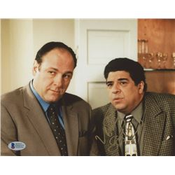 "Vincent Pastore Signed ""The Sopranos"" 8x10 Photo Inscribed ""Big P****"" (Beckett COA)"