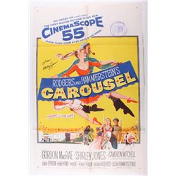 "Shirley Jones Signed 27x41 ""Carousel"" Movie Poster Inscribed ""Love"" (JSA COA)"