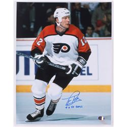 "Tim Kerr Signed Flyers 11x14 Photo Inscribed ""4 x 50 Goals"" (SI COA)"