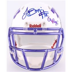 "Trevone Boykin  Kenny Hill Signed TCU Horned Frogs Mini Speed Helmet Inscribed ""Go Frogs""(JSA COA)"