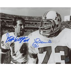 Steve Grogan  John Hannah Signed Patriots 8x10 Photo (LTD COA)