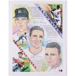 "Don Larsen, Bobby Thomson  Johnny Vander Meer Signed LE ""Baseball's Greatest Feats"" 11x14 Print on P"