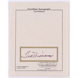 Ted Williams Signed 8x10 Certified Autograph (JSA ALOA)