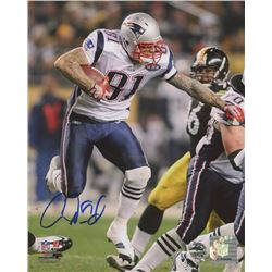 Aaron Hernandez Signed Patriots 8x10 Photo (LTD COA)