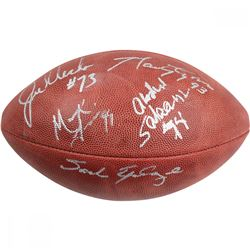 "New York Jets ""Sack Exchange"" NFL ""The Duke"" Football Team-Signed by (4) with Mark Gastineau, Joe Kl"