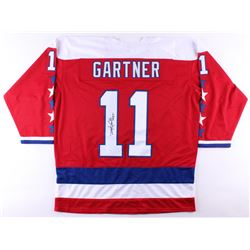 "Mike Gartner Signed Capitals Jersey Inscribed ""HOF 01"" (JSA COA)"
