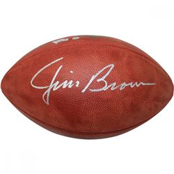 "Jim Brown Signed Wilson NFL ""The Duke"" Football (Fanatics  Steiner COA)"