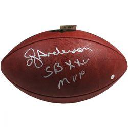 "OJ Anderson NFL Football Inscribed ""SB XXV MVP"" (Steiner COA)"