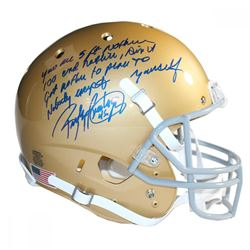 Rudy Ruettiger Signed Notre Dame Fighting Irish Full Size Helmet with Extensive Inscription (Steiner