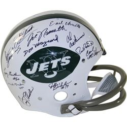1969 Jets Full-Size Throwback Helmet Team-Signed by (24) with Joe Namath, Emerson Boozer, Matt Snell
