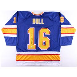 Brett Hull Signed Blues Captain's Jersey (JSA COA)