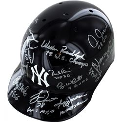 1978 New York Yankees Batting Helmet Team-Signed by (15) with Goose Gossage, Reggie Jackson, Bucky D