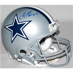 "Troy Aikman Signed LE Cowboys Full-Size Authentic Pro-Line Helmet Inscribed ""HOF '06"" (Steiner COA)"