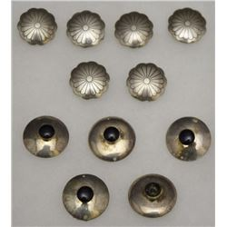 NAVAJO SILVER BUTTONS COVERS
