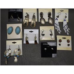 TEN PAIR NAVAJO EARRINGS