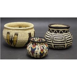 THREE PANAMANIAN BASKETS