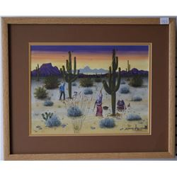 PAPAGO PAINTING (CHIAGO)