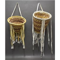 TWO APACHE BURDEN BASKETS