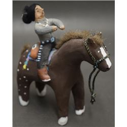 NAVAJO POTTERY HORSE AND RIDER