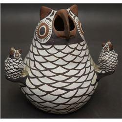 ZUNI POTTERY OWL (KALESTEWA)