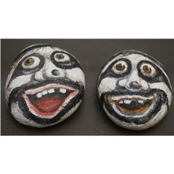 TWO HAND PAINTED STONES (DAVID)
