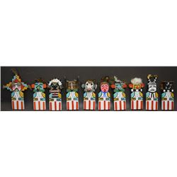 TEN HOPI FLAT DOLLS