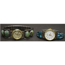 TWO NAVAJO WATCH BANDS