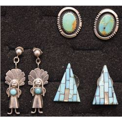 THREE NAVAJO EARRINGS