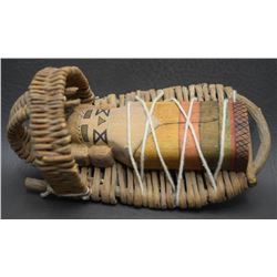 HOPI BASKETRY TOY CRADLE AND DOLL