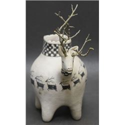 LAGUNA POTTERY DEER EFFIGY POT (KANTEENA)