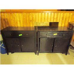 2 Black wood dressers 34 X 34 X 15.5 Inches
