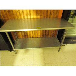 Stainless steel work station 60 inch X 24 inch