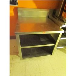 Stainless steel work station with drawer 30 X 34