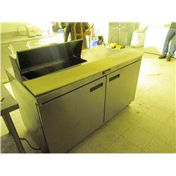 Delfield refrigerator cooler 60 X 32 inch prep station
