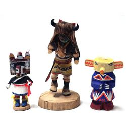 3 Native American Kachinas