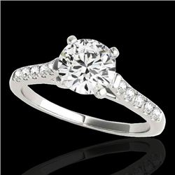 1.2 CTW H-SI/I Certified Diamond Solitaire Ring 10K White Gold - REF-145W3F - 34970