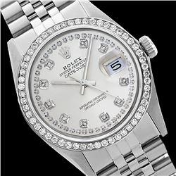 Rolex Ladies Stainless Steel, Diamond Dial & Diamond Bezel, Sapphire Crystal - REF-434W4H