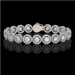 13.42 CTW Diamond Designer Bracelet 18K White Gold - REF-2174Y2K - 42581