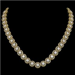 30.78 CTW Diamond Designer Necklace 18K Yellow Gold - REF-4766A9X - 42580