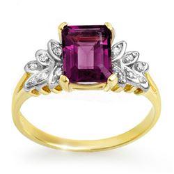 1.52 CTW Amethyst & Diamond Ring 10K Yellow Gold - REF-19A3X - 12651