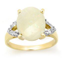 2.55 CTW Opal & Diamond Ring 10K Yellow Gold - REF-51T3M - 13362