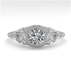 0.50 CTW VS/SI Diamond Solitaire Engagement Ring 18K White Gold - REF-107H3A - 36018