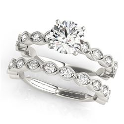 1.77 CTW Certified VS/SI Diamond Solitaire 2Pc Wedding Set 14K White Gold - REF-228X2T - 31610