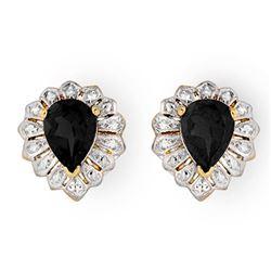 2.20 CTW Blue Sapphire Earrings 10K Yellow Gold - REF-15Y6K - 13811