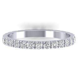 0.86 CTW Certified VS/SI Diamond Art Deco Eternity Band 14K White Gold - REF-52A8X - 30324