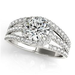 1.25 CTW Certified VS/SI Diamond Solitaire Ring 18K White Gold - REF-225A6X - 27978