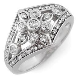 0.75 CTW Certified VS/SI Diamond Ring 10K White Gold - REF-54N5Y - 11006